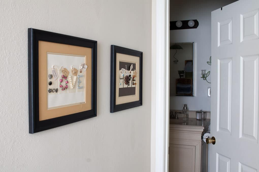 quick farmhouse makeover outdated frames two pieces of art on wall