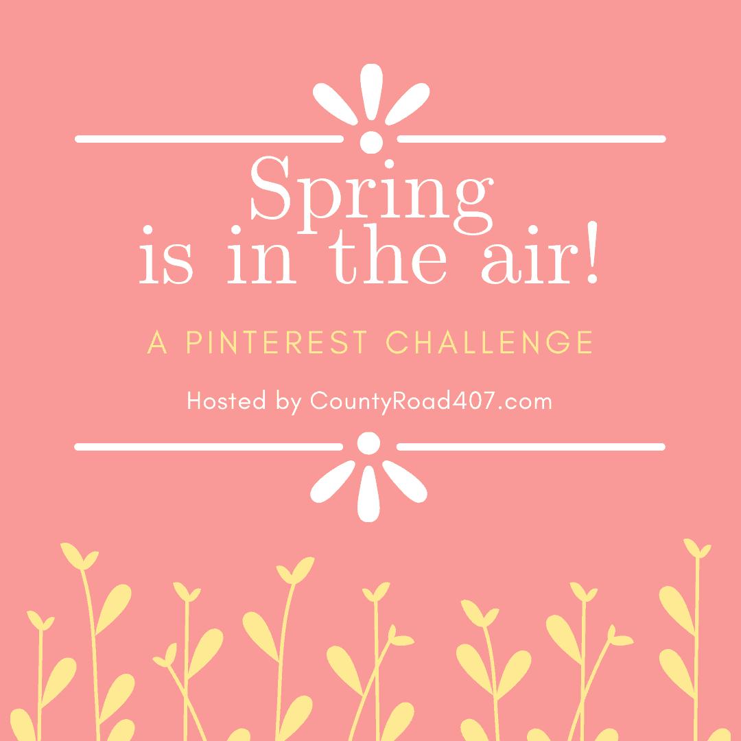 spring centerpiece velvet easter eggs spring is in the air pinterest challenge graphic