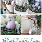 spring decorating ideas using velvet easter eggs bowl of velvet eggs variety of photos