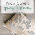 affordable spring summer pillow picks two neutral pillows on floor