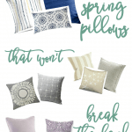 affordable spring summer pillow picks collections of pillows in different colors