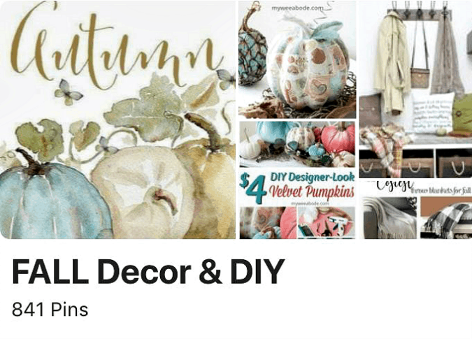 various photos of fall decor with the title fall decor and diy
