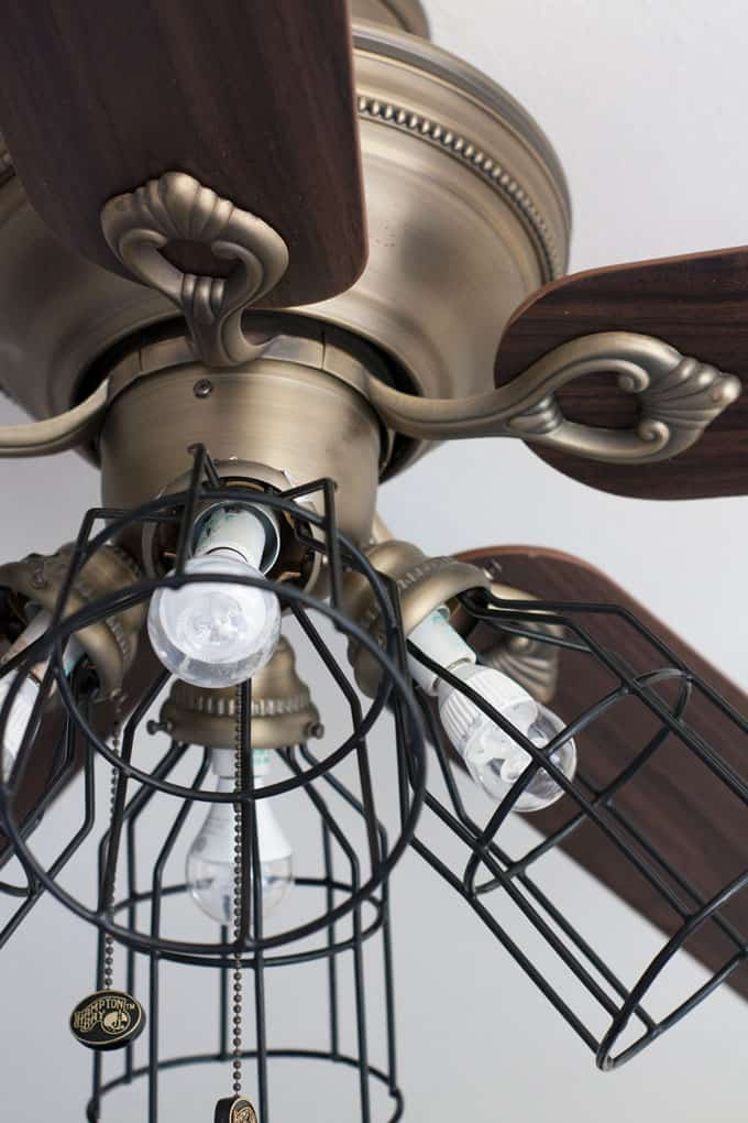 easy apartment decor hacks ceiling fan with cage shades
