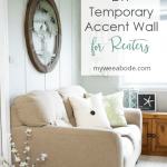 create temporary accent wall living area with furniture and decor with feature wall