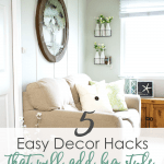 easy apartment decor hacks before and after photo of small living area