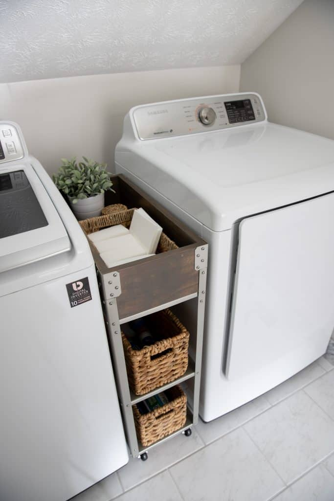 tuesday turn about 3 washer and dryer with ikea hyllis cart makeover in between