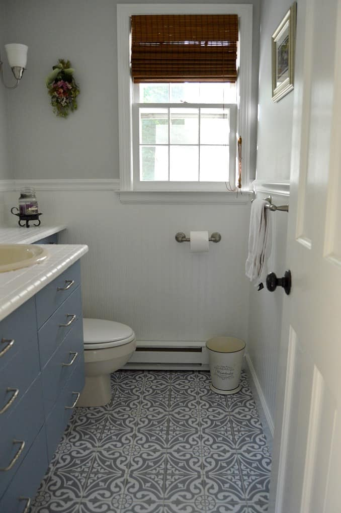 tuesday turn about 10 bathroom in gray and white