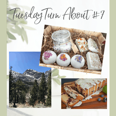 tuesday turn about 7 mountain view baked goods and basket with bath items