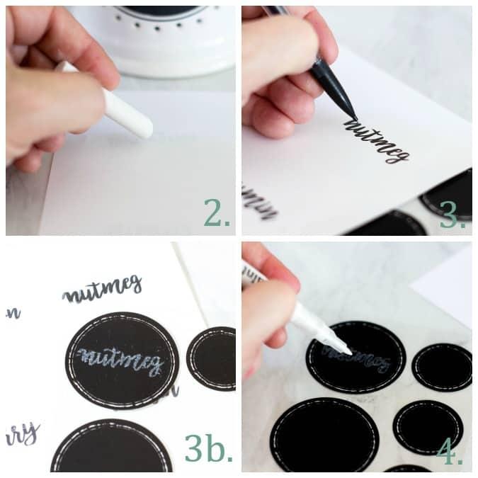 diy chalkboard font labels how to steps