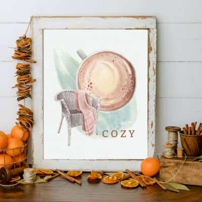 Beautiful Watercolor Wall Art for Your Fall Home