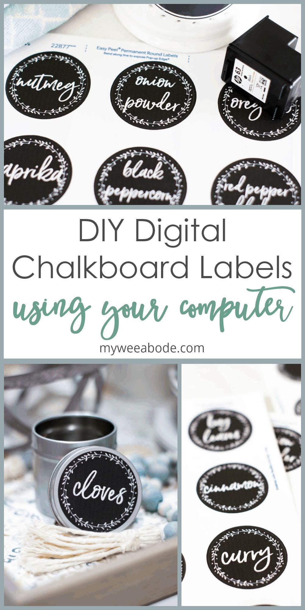 make chalkboard labels using computer