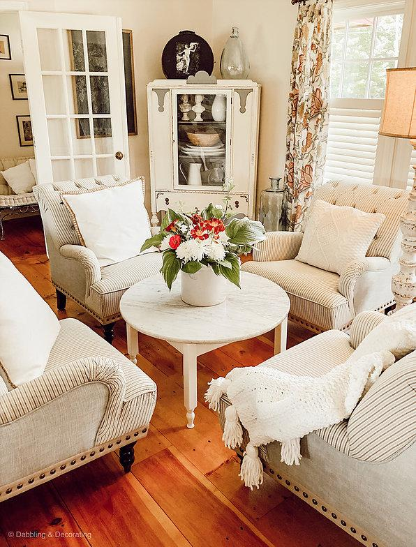 tuesday turn about 11 bright and airy sitting room with chairs and table and lovely centerpiece