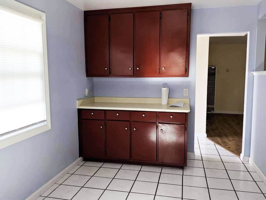 how to update your rental kitchen the easy way kitchen cupboards and lavender walls