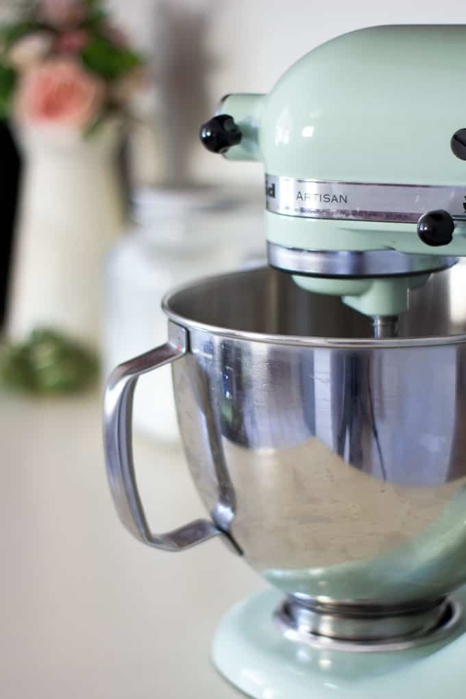 how to update your rental kitchen the easy way mixer with aluminum bowl