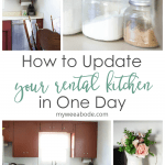 how to update your rental kitchen the easy way photos of kitchen and accessories