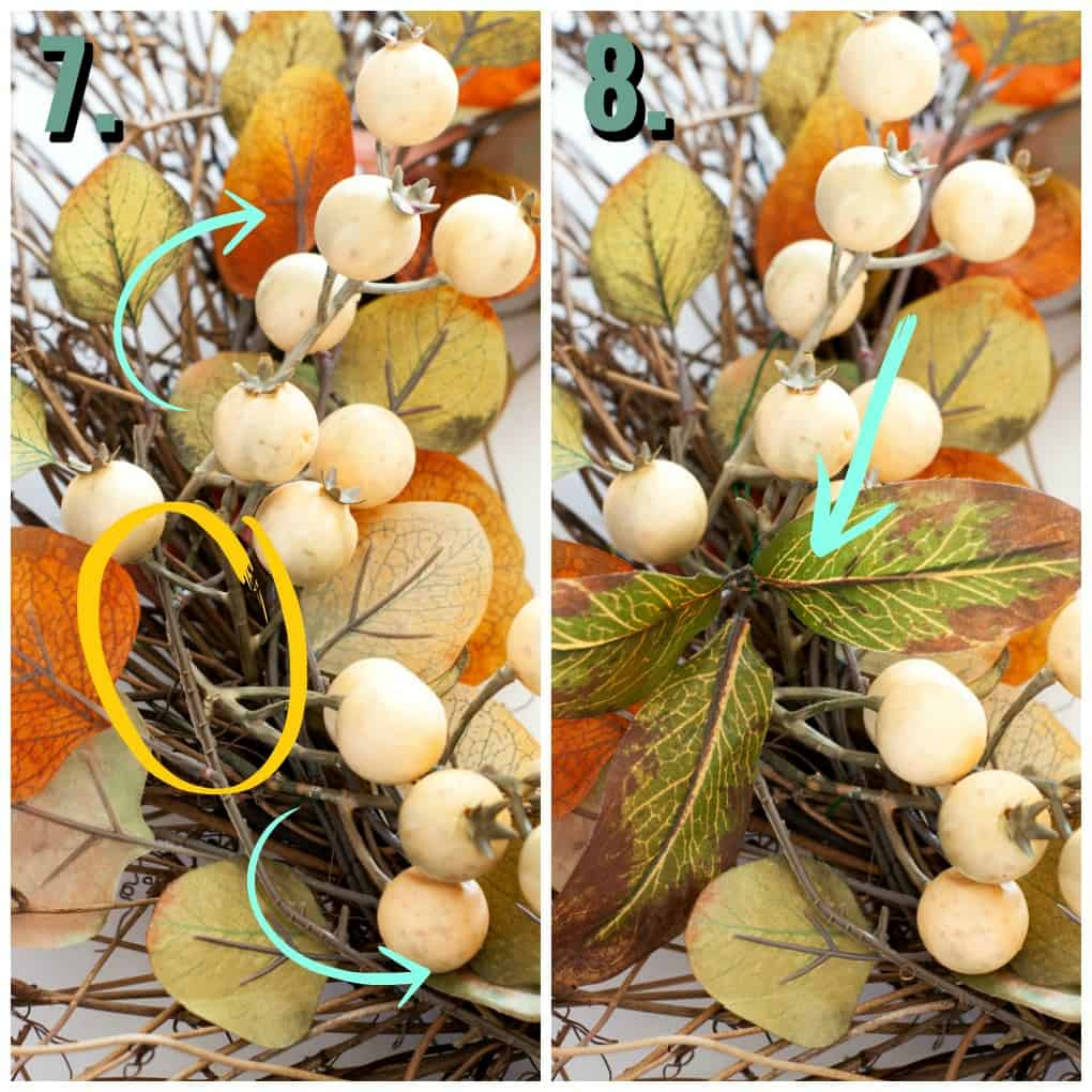 quick easy rustic fall wreath supplies and tutorial steps