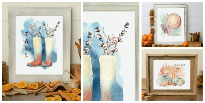 tuesday turn about late summer centerpieces fall printable collage