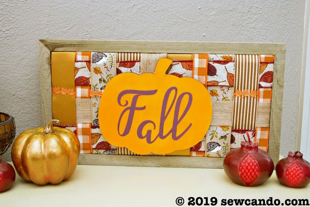tuesday turn about 19 fall wall decor patchwork ribbon fall sign