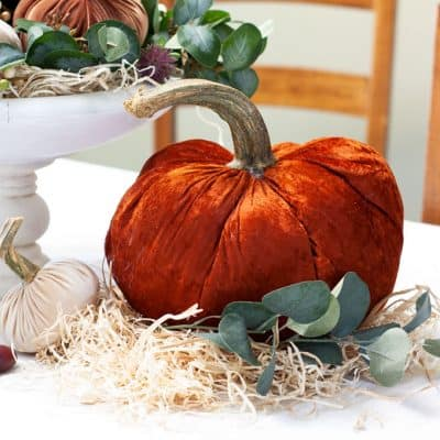 How to Use Velvet Pumpkins in a Thanksgiving Centerpiece