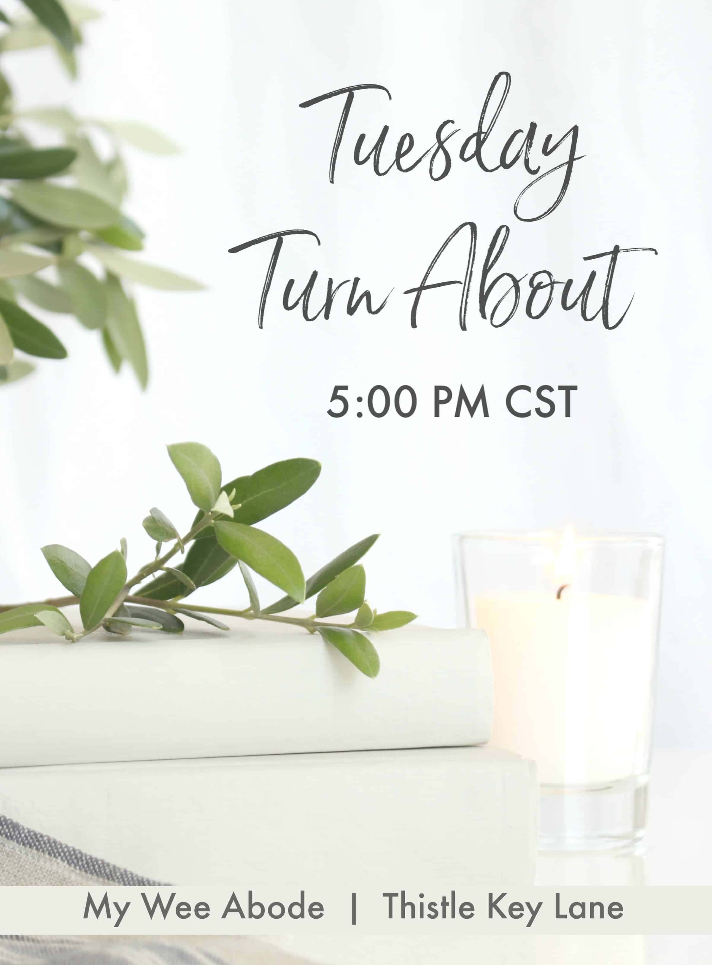 title banner for tuesday turn about