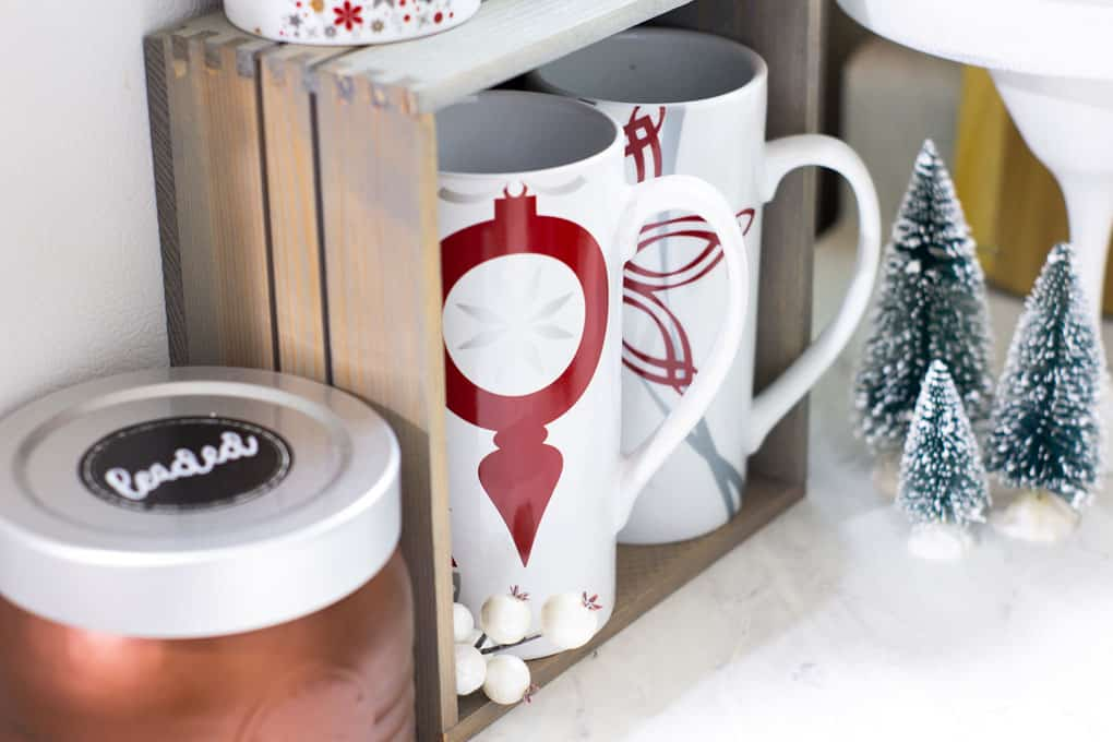 Creating a Holiday Coffee Station in a Small Space