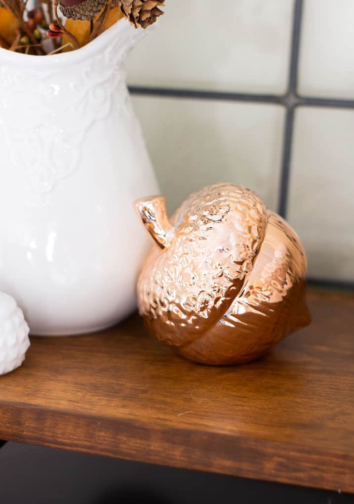 love your dark kitchen cabinets coppe acorn on wooden shelf