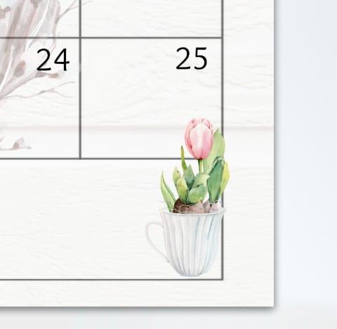 tulip in a white coffee mug