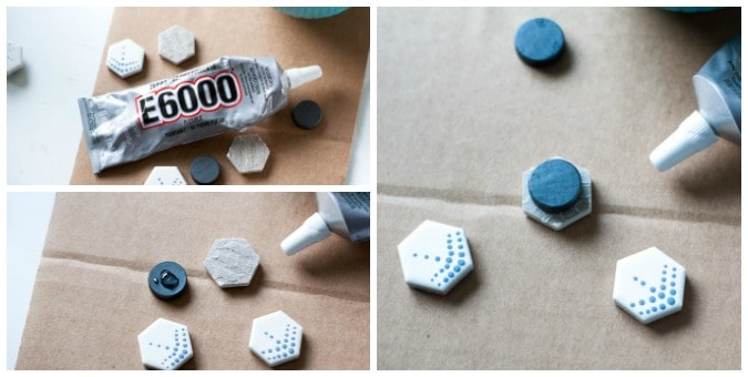 easy diy and painted magnets on cardboard with gluing steps