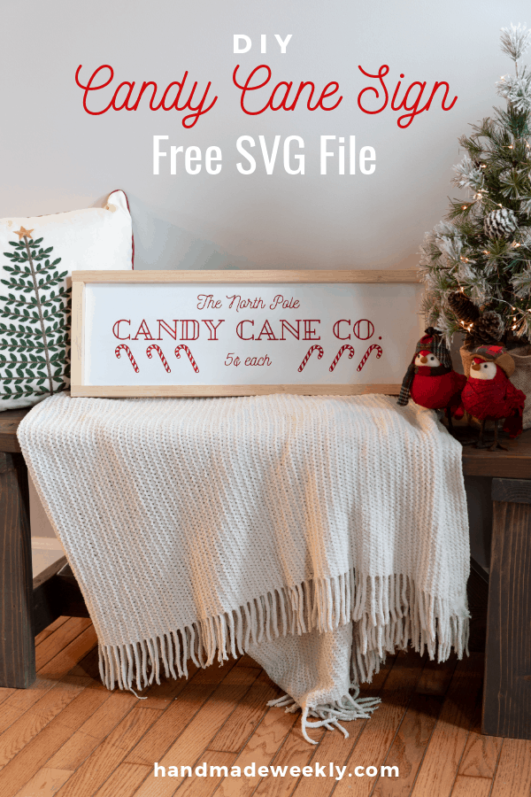 tuesday turn about 29 christmas galore candy cane sign on bench with blanket