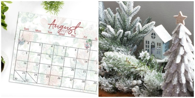 tuesday turn about 30 winter wonderland calendar and mantel decor