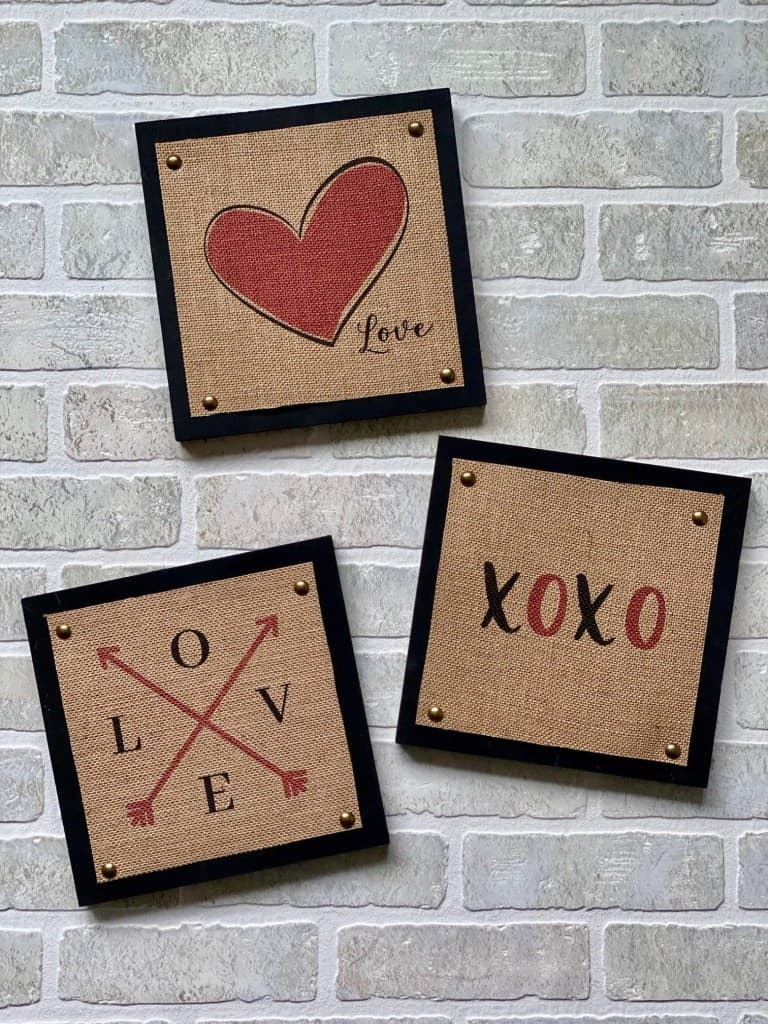 tuesday turn about 32 DIY valentine signs 3 rustic heart signs on brick surface