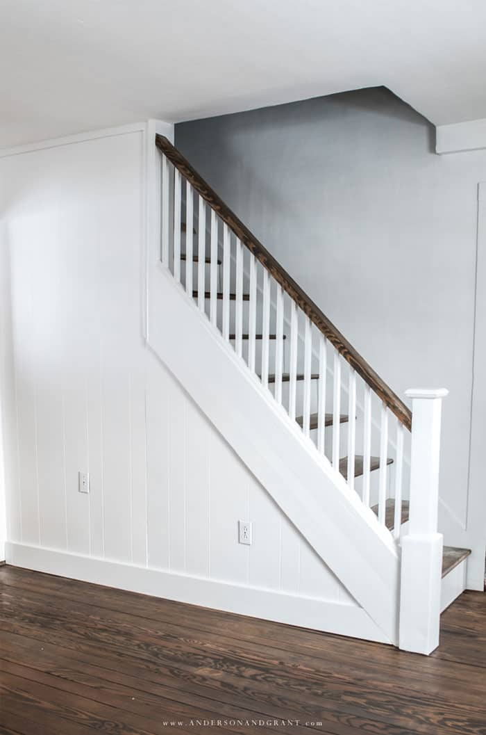 tuesday turn about 33 winter inspiration fixer upper staircase and panel with wood floors