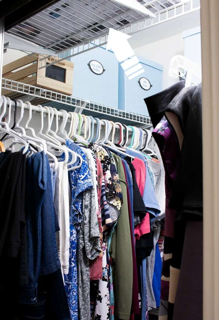 maximize a tiny closet organizing products in closet