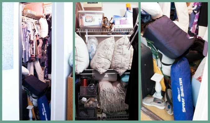 how to get the most from a small closet stuffed closet