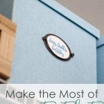maximize your tiny closet blue organizing box