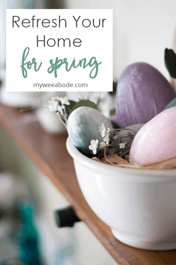 spring decor picks for your home white bowl with velvet eggs and flowers