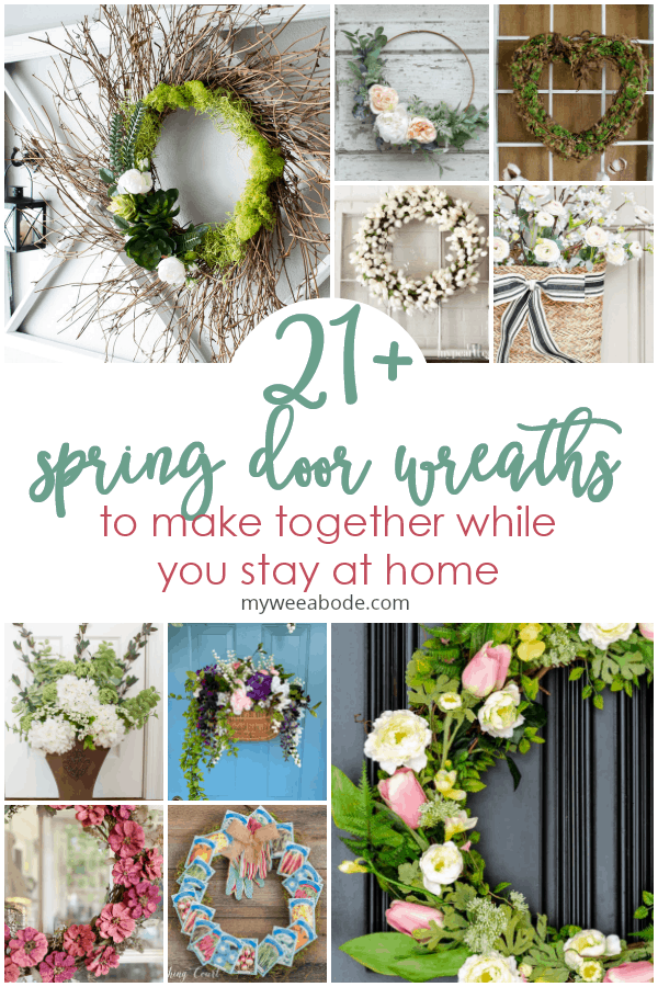 stay home spring wreaths