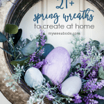 stay home spring wreaths spring tire wreath with pastel velvet easter eggs