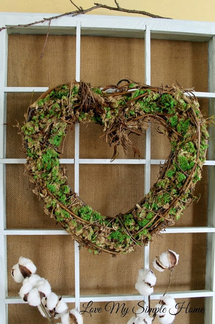 stay home spring wreaths grapevine heart wreath with moss