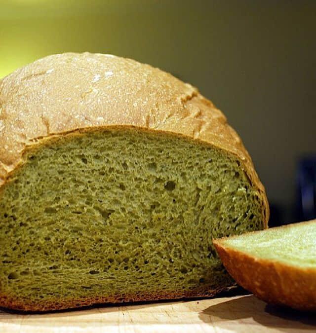 pistachio sweet bread on wood surface