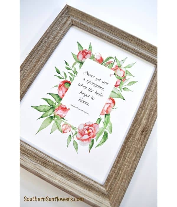 tuesday turn about 40 paper findings printable in frame with pink roses and greenery