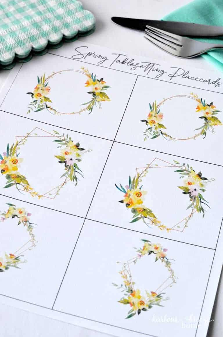 tuesday turn about paper findings placecard printable