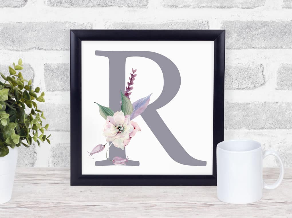 Free Mother's Day Monogram Gift Idea