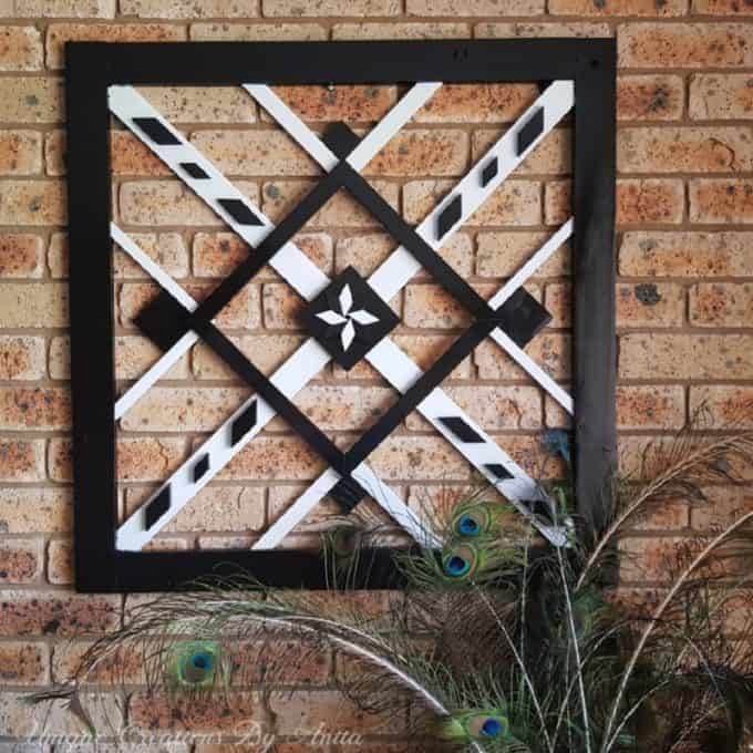 tuesday turn about home diys black and white wall hanging on brick wall