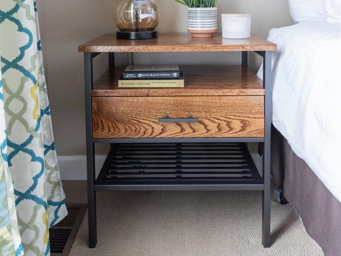 tuesday turn about 45 spring projects modern industrial nightstand ikea hack