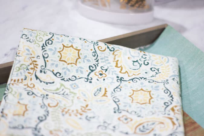 tray with fabric