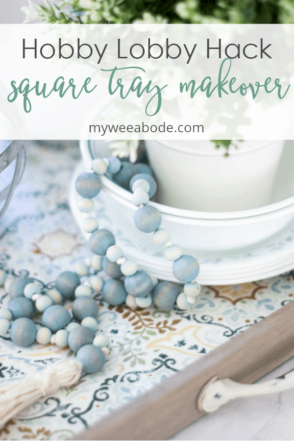 hobby lobby cheap square tray with kitchen elements