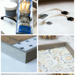 step by step instruction images for creating a cheap and lovely tray