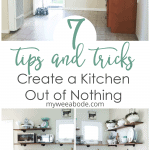 cook with no kitchen with nothing in it and kitchen prepared to cook