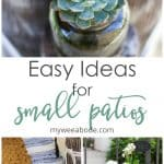 quick and easy summer apartment porch with plants and textiles